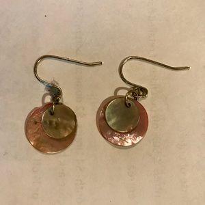 Petite shell dangle earrings